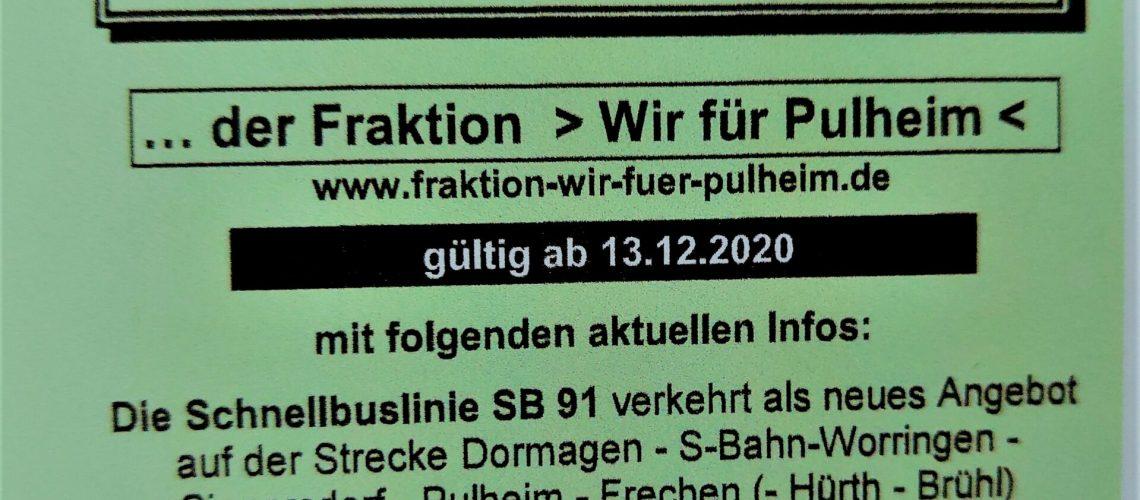 Sinnersdorfer Fahrplan 2020/2021