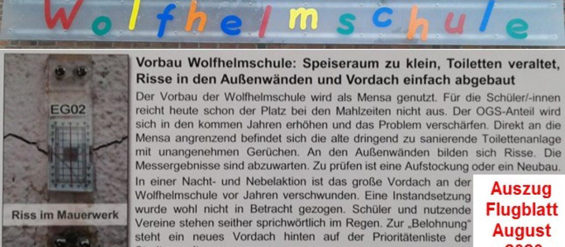 Wolfhelmschule - Flugblatt